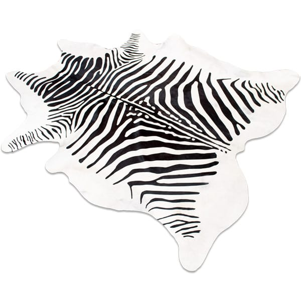 Natural zebra cowhide fof rugs, wall hangings and upholstery