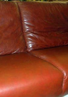 Light Brown Leather Sofa Reupholstery After The Repair And Of A