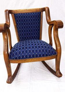Refinishing And Upholstering Of An Armchair Completed
