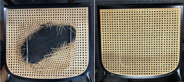 Chair seat caning repair