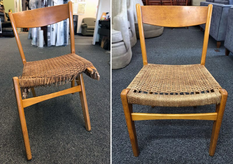 Chair weaving repair and restoration