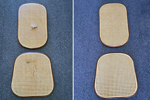 Seat and back chair caning repaired