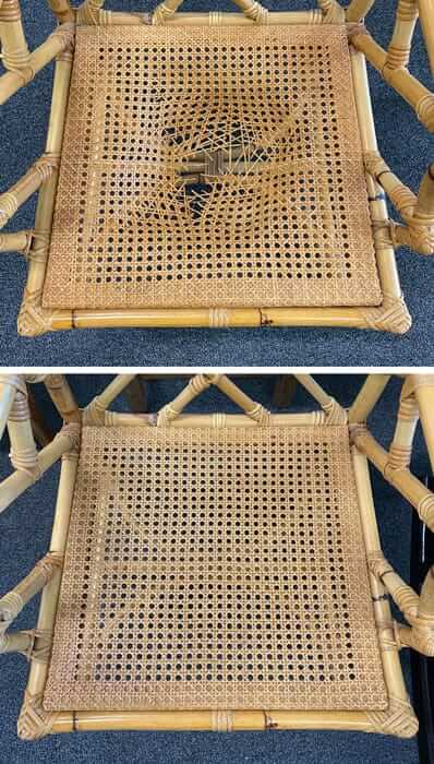 Chair caning seat replacement