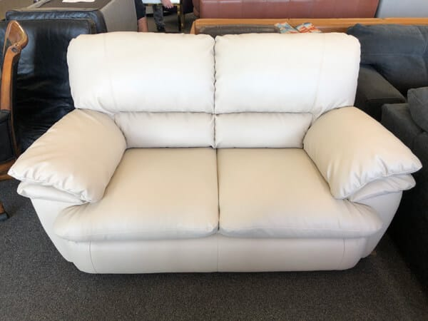 Light beige loveseat coor restoration and conditioning