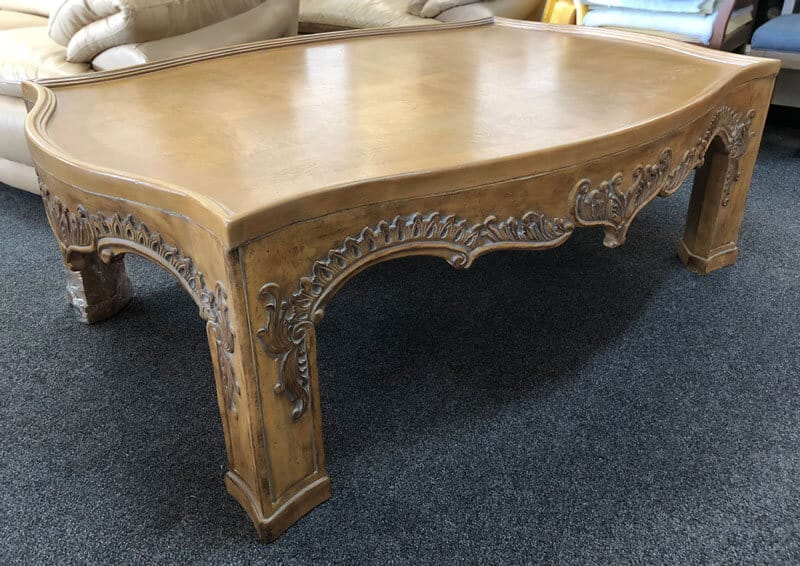 Antique table top refinished