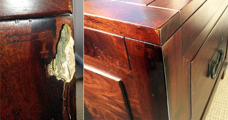 Drawer damage restoration