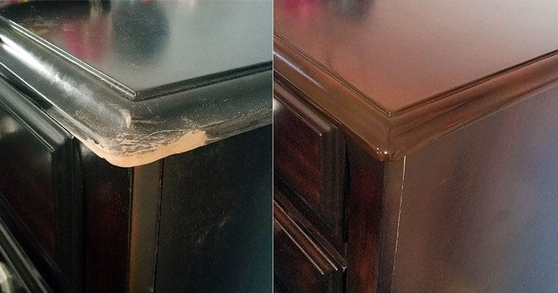Drawer tabletop corner repair