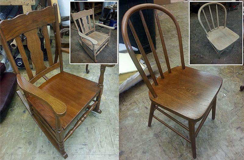 Wooden chairs refinished