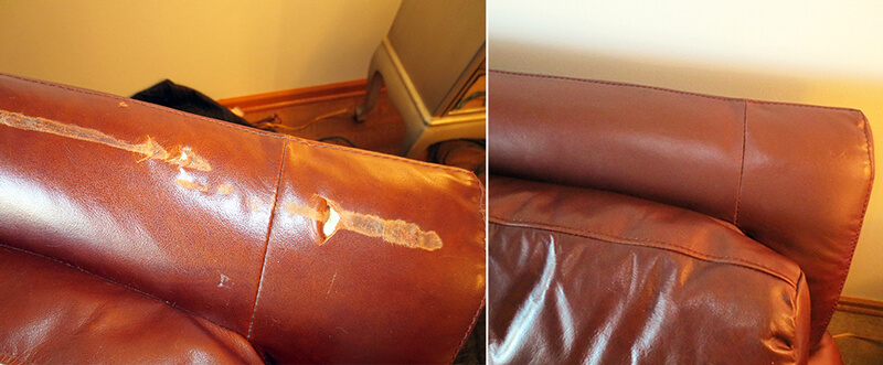 Furniture leather repair
