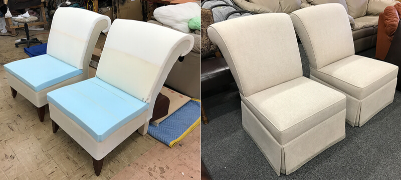 Upholstery, reupholstery, furniture repair & restoration services